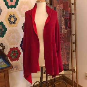 Chico's Red Reversible Travel Wrap
